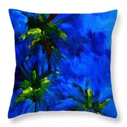 Palm Trees Abstract Throw Pillow by Patricia Awapara