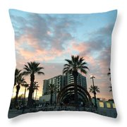 Palm Trees And Bikes At Noho Throw Pillow