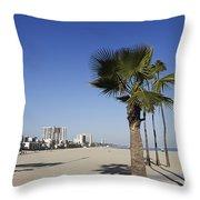 Palm Trees At Long Beach California Throw Pillow