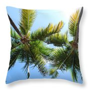 Palm Trees In Puerto Rico Throw Pillow