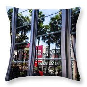 Palm Trees In Reflection 2 Throw Pillow
