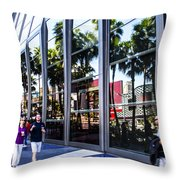 Palm Trees In Reflection 3 Throw Pillow