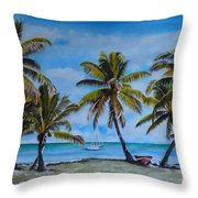 Palm Trees In The Keys Throw Pillow