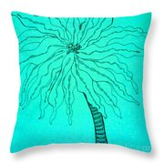 Palm Turquoise  Throw Pillow