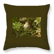 Palm Warbler Throw Pillow