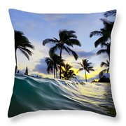 Palm Wave Throw Pillow