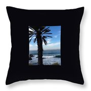 Palm Waves Throw Pillow