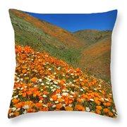Palmdale Poppies Throw Pillow