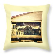 Palmetto Mural Throw Pillow