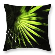 Palmetto And Rays Throw Pillow
