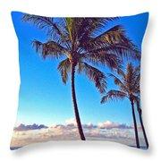 Palms 438 Throw Pillow