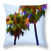 Palms 8 Throw Pillow