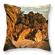 Palms Over Mcway Throw Pillow by Adam Jewell