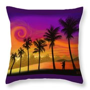 Palms Over St. Croix Throw Pillow