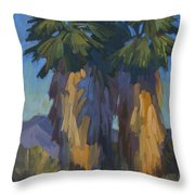 Palms With Skirts Throw Pillow