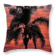 Palmtree Apocalypse Throw Pillow