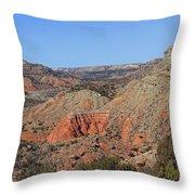 Palo Duro Canyon 021013.282 Throw Pillow