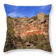Palo Duro Canyon 021713.102 Throw Pillow