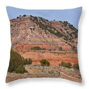Palo Duro Canyon 040713.02 Throw Pillow