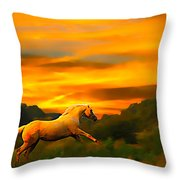 Palomino Pal At Sundown Throw Pillow