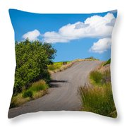 Palouse Country Road Throw Pillow