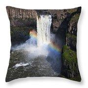 Palouse Falls Throw Pillow by Mark Kiver