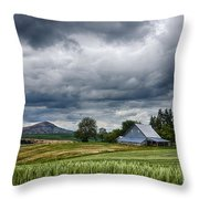 Palouse Farm And Steptoe Butte Throw Pillow