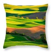 Palouse Fields - June Throw Pillow