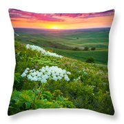 Palouse Flowers Throw Pillow