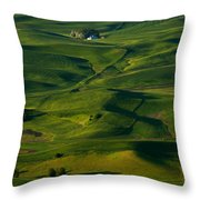Palouse Green Throw Pillow