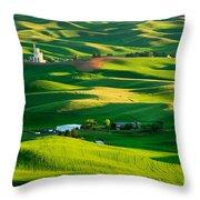 Palouse Green Sea Throw Pillow