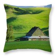 Palouse Grey Barn Throw Pillow