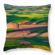 Palouse Ocean Of Wheat Throw Pillow