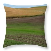 Palouse Patchwork 3 Throw Pillow