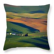 Palouse - Washington - Farms - 1 Throw Pillow by Nikolyn McDonald
