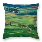 Palouse - Washington - Farms - 4 Throw Pillow