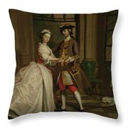 Pamela And Mr B. In The Summerhouse Throw Pillow