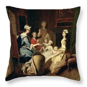 Pamela Tells A Nursery Tale Throw Pillow