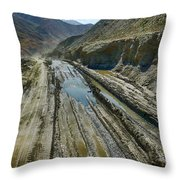 Pamir Alay Road Throw Pillow