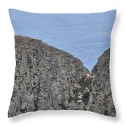 Pamola And Chimney Peaks Throw Pillow