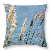 Pampas On The Lake Throw Pillow