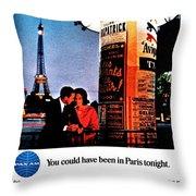Pan Am To Paris Throw Pillow