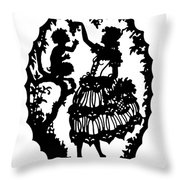 Pan And The Maiden Throw Pillow