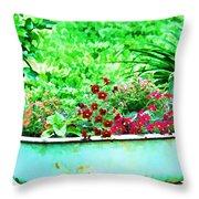 Pan Full Of Color  Digital Paint Throw Pillow