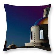 The Church Of Panagia Of Platsani Throw Pillow