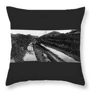 Panama Canal, 1908 Throw Pillow