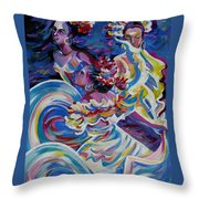Panama Carnival. Folk Dancers Throw Pillow