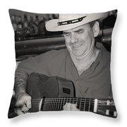 Panama City Blues Throw Pillow