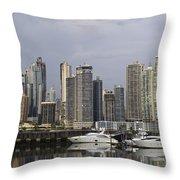 Panama City Skyline Panama Throw Pillow