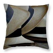 Panama Hats Throw Pillow